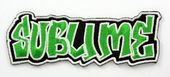 Sublime - 'Green Logo' Embroidered Patch